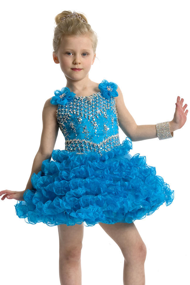 Buy Glitz Beading Organza Baby Girls Cupcake Dresses Infant Diamond ...