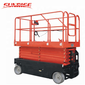 12M lifting Height Full Electric Mobile Car Scissor Lift platform
