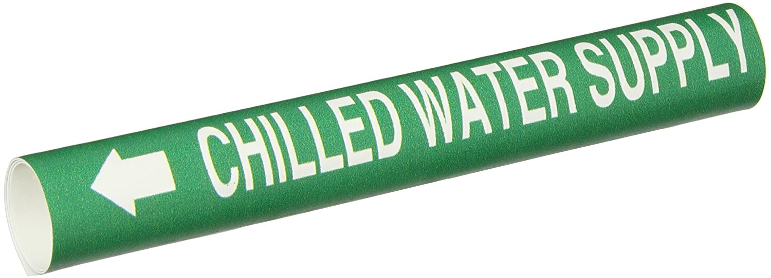Brady 4082-C Snap-On 2-1//2-3-7//8 Outside Pipe Diameter B-915 Coiled Printed Plastic Sheet Black On Yellow Color Pipe Marker Legend Hot Water Supply