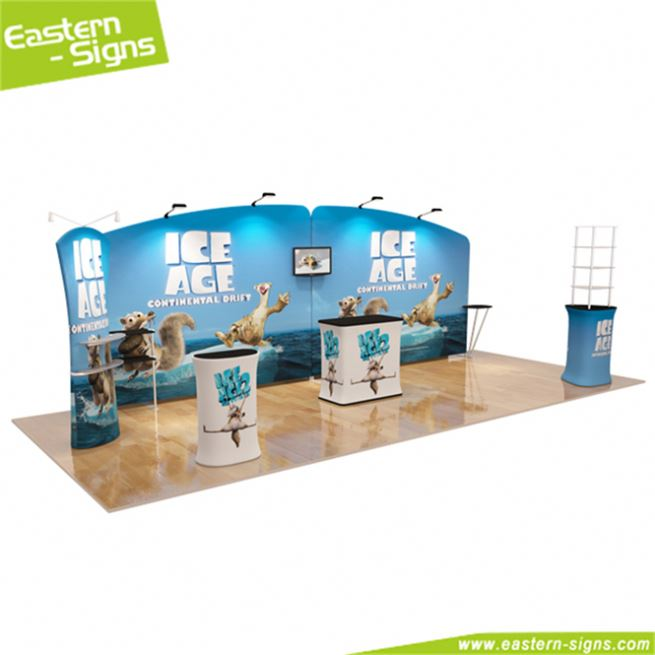 Beautiful aluminum trade show free assembly wrinkle free trade show booth exhibition stall designer