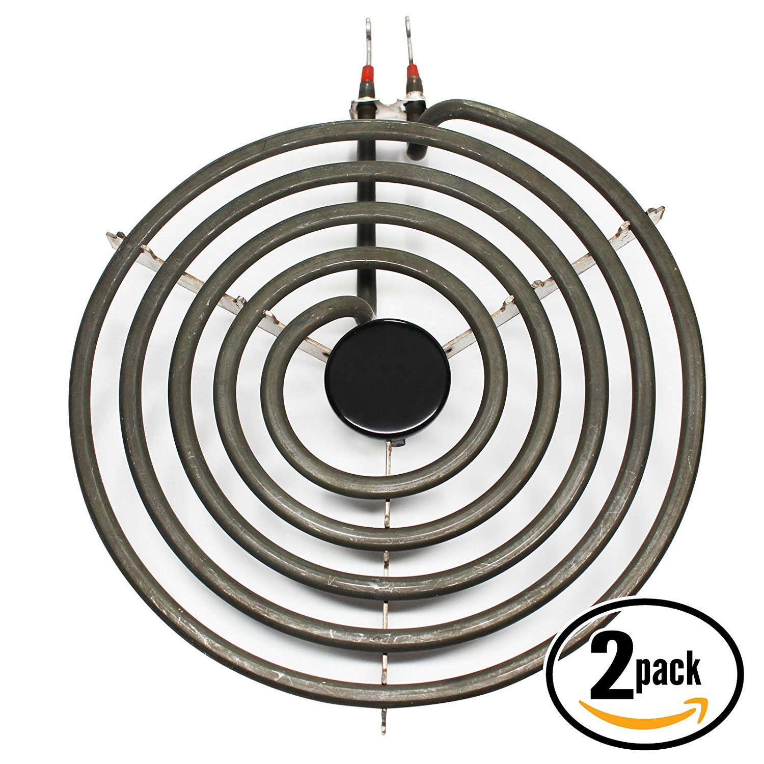 2-Pack Replacement Frigidaire RE36BNW1 8 inch 5 Turns Surface Burner Element - Compatible Frigidaire 316442301 Heating Element for Range, Stove & Cooktop