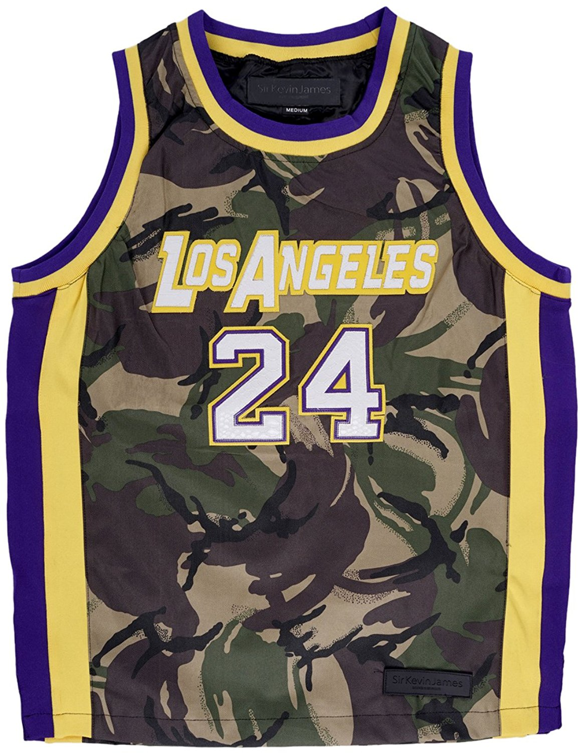 Get Quotations · Kobe Mamba Camouflage  24 Basketball Jersey Sir Kevin James 46da972a2