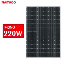 low price and high quality 4bb solar cell aluminum frame 36V 220w mono solar panel system