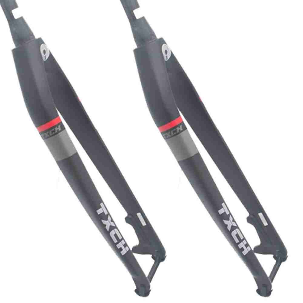 1-1//8 MTB Mountain Bike Rigid Tapered Fork Full Carbon 26//27.5//29in Disc Bicycle