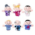 6Pcs Set Family Member Finger Puppet Dolls Toys Babies Kids Children Toys Hot Sale