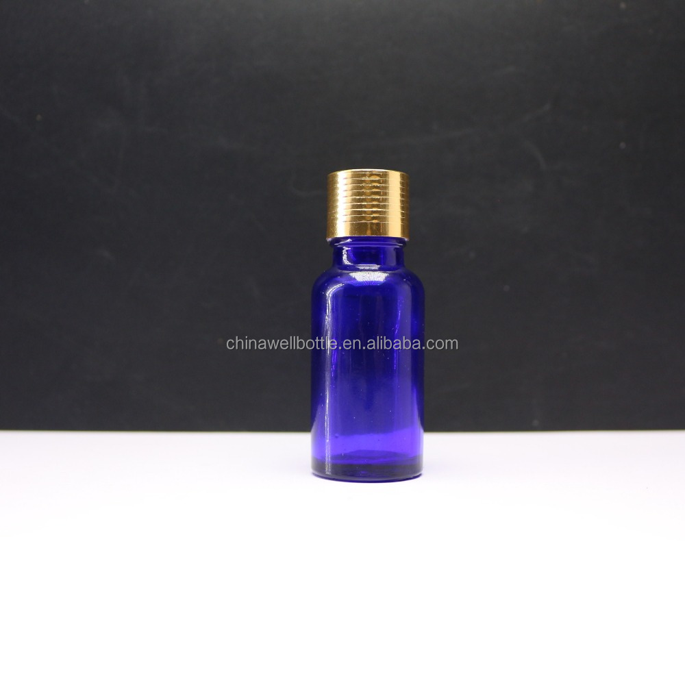 15ml essencial oil clear amber blue black glass dropper bottle vial for cosmetic Round-394d