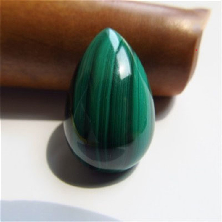 Hot sale charms geometric geode hop horseshoe shape malachite necklaces pendant crystal