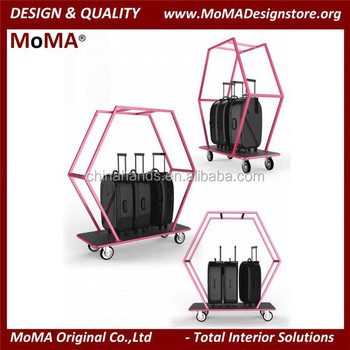 ma ht01 new design stainless steel hotel luggage trolley - Stainless Steel Hotel Design