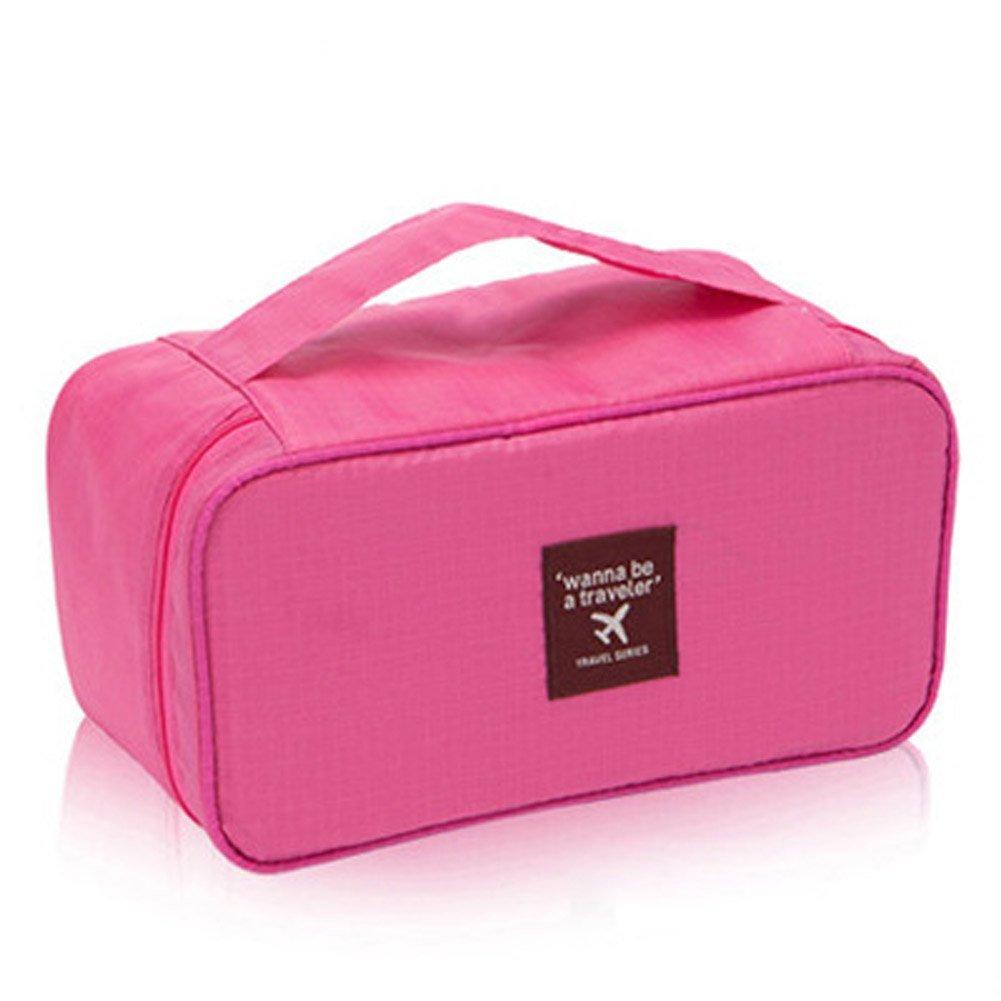 Icon Waterproof Travel Toiletries Bag Portable Underwear Pouch Organizer (Pink)