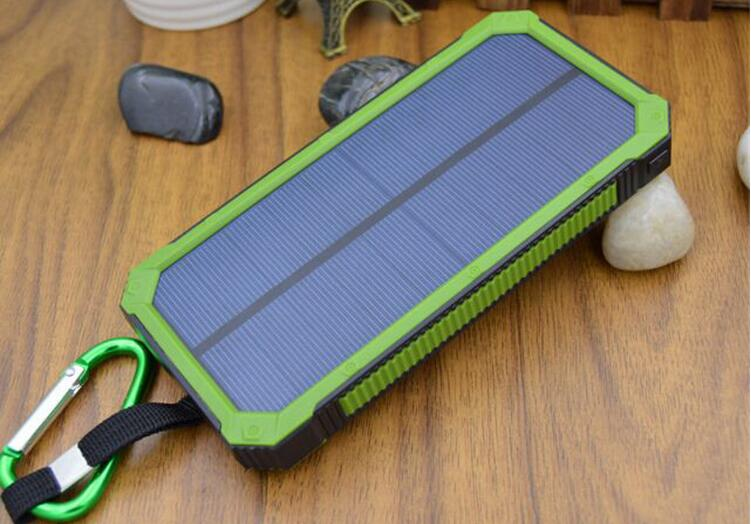 OEM Solar power bank 10000mah 18650 power bank With LED Lamp Poverbank