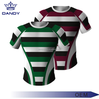 Popular Customized design 100% polyester rugby jersey Hot selling rugby kit sublimation training rugby jersey