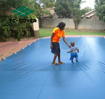 Pvc Winter Safety Solid Cover For Inground Swimming Pools