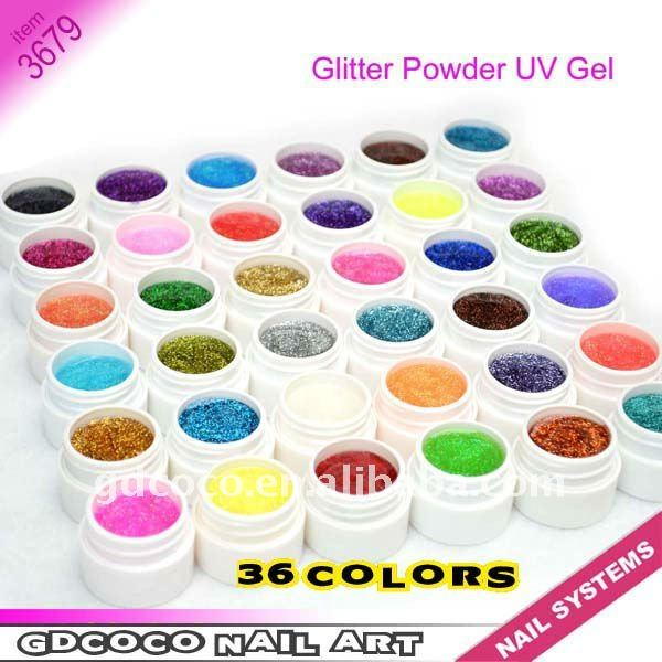New Arrival 36 colors Gillter Power UV GEL 3679