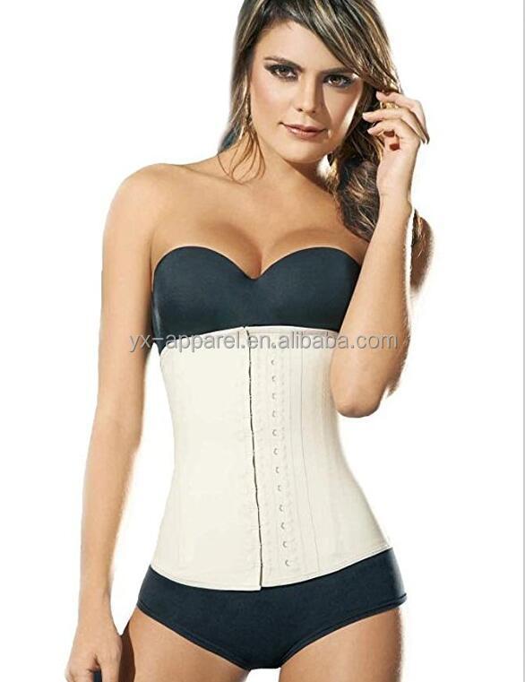 f6056237c6 Nude Latex Hook Waist Shaper Ann Cherry Label Corset 9 Steel Boned Latex  Body Shapers - Buy Body Shaper Slimming