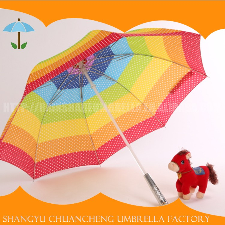 Factory Directly Provide Chinese LED Variable 7 Colors Umbrellas With Flashlight