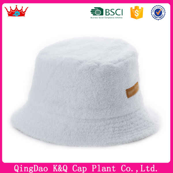 New design high quality stylish cheap terry towel bucket hat