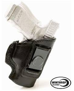 S&W M&P Shield NO Laser 9 mm IWB CCW NO Shield Leather Single Spring Clip Holster R/H Black - 0863