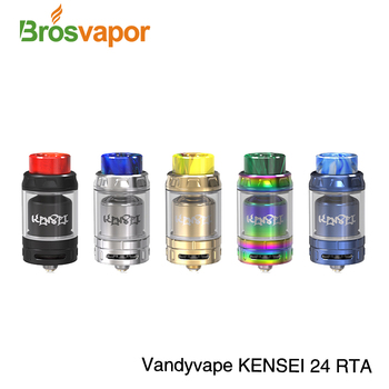 2018 Vandyvape Brand Vandy Vape Kensei 24 RTA with 12 holes on each hot selling e cig tank in stock