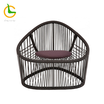Factory directly wicker hand woven aluminum frame poly rattan garden furniture sofa set