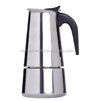 Moka Induction Stainless Steel Stove Top Coffee Maker