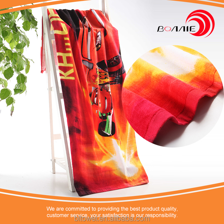 Royal standard and super cheap 100% cotton reactive printed beach towel from China manufacture