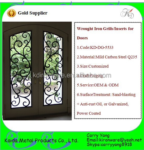Door & Window Grates, 2015 Hot-Sale Paint to Paint Wrought Iron Door Grill