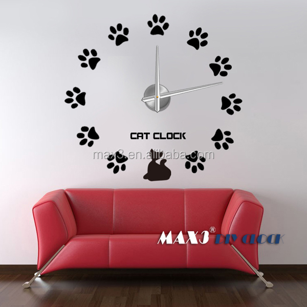 Fashion large decorative wall clock European style design Art office home decoration (Black)
