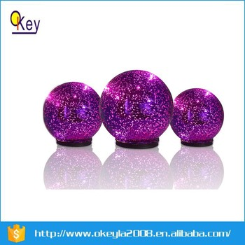 Purple Decorative Balls Best Purple Glass Decorative Hanging Balls Colorful Led Ball Lights For Inspiration Design