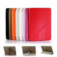 Fashion eleven fold deformation folder tablet PC case for ipad Mini 2/3/4