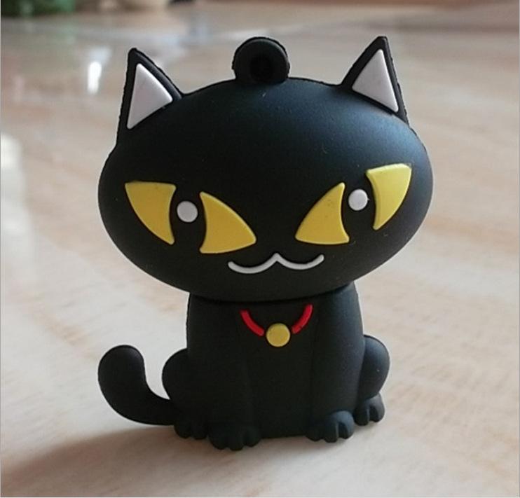 New Hot 3D Cao Su Phim Hoạt Hình Mèo Mô Hình USB 2.0 Memory Stick Pen Drive Thẻ U Đĩa Mẫu Miễn Phí