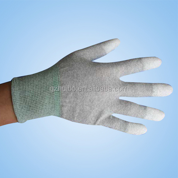 Anti static gloves, ESD Palm fit gloves, ESD PU Top Fit Conductive Gloves