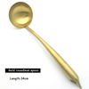 Gold-roundness spoon