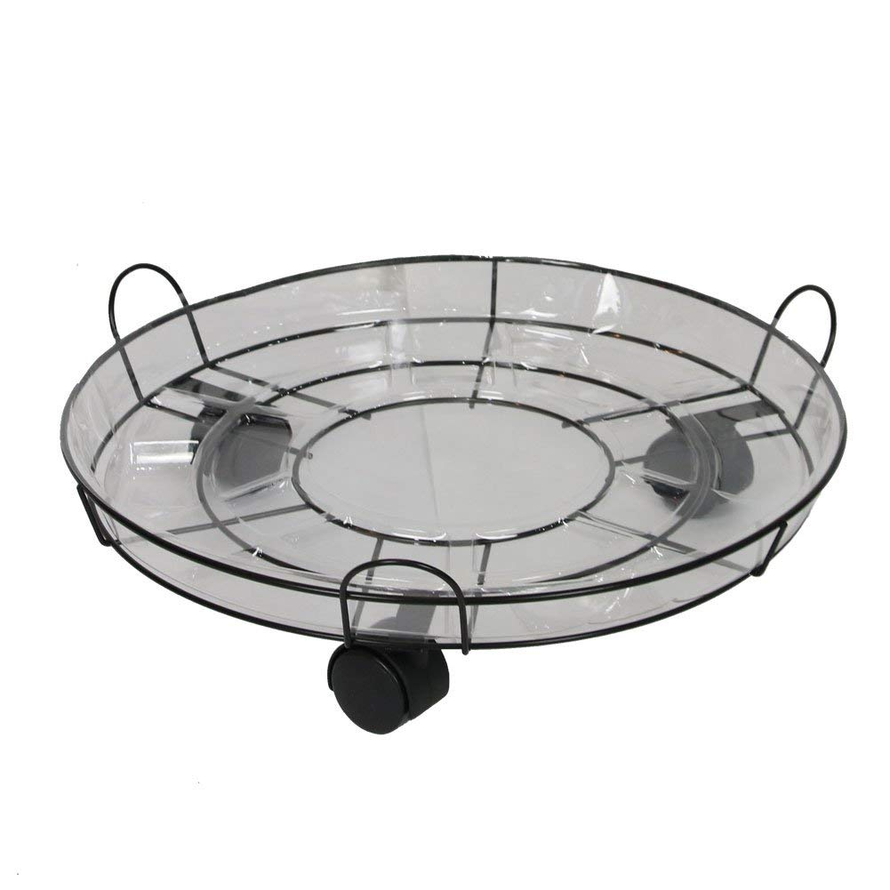 Get Quotations Y M Metal Plant Caddy Iron Potted Stand Wheels Round Flower Pot Rack On Rollers Dolly