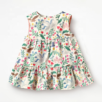 Summer season new european-style brand children's dress children's skirt knitted cotton sleeveless girls' dress printed children