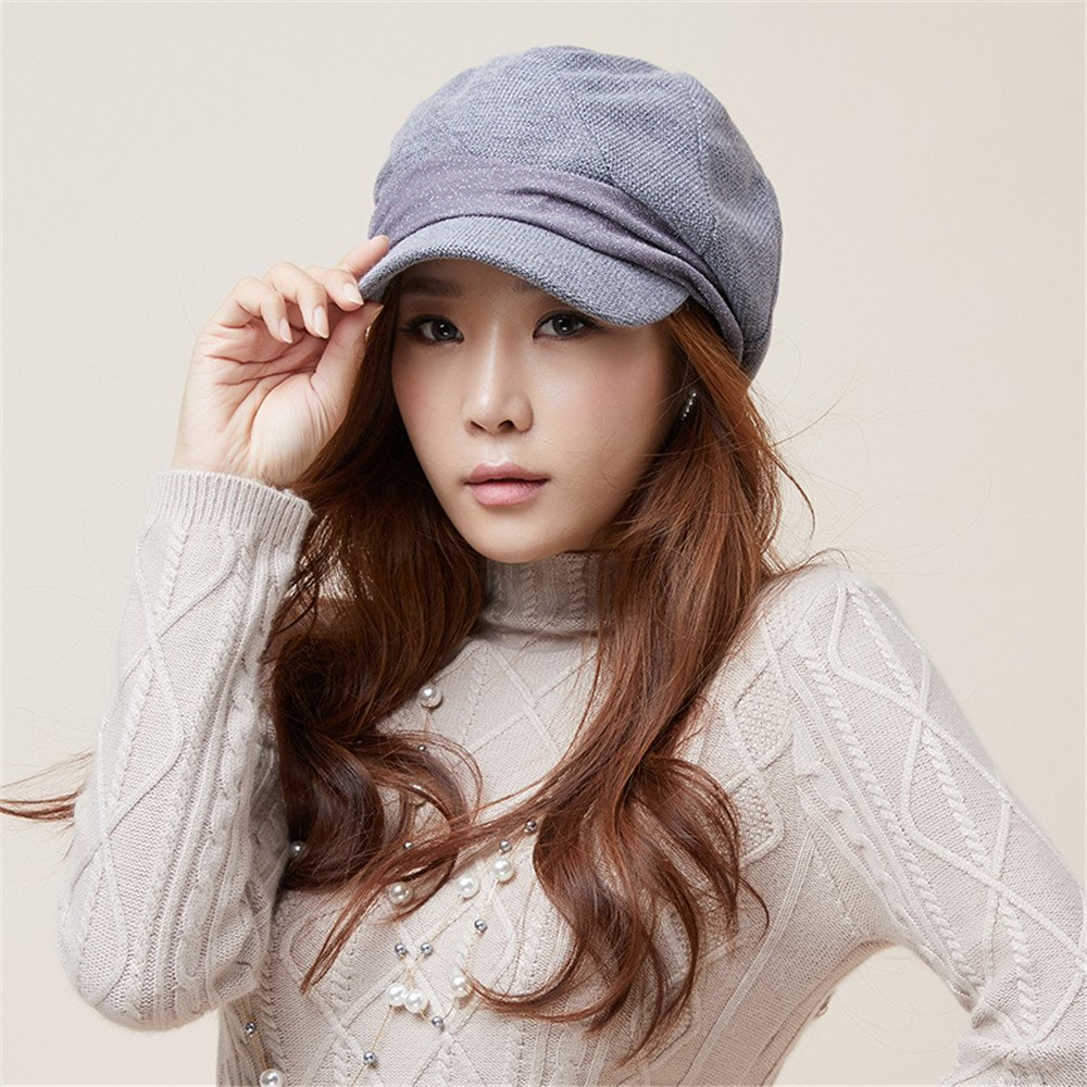 6a83dd2d04e Get Quotations · A woman s hat and winter female fashion leisure hat youth  outdoor shopping fashion warm basin cap