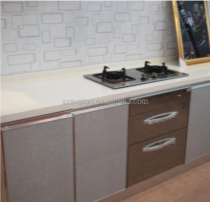 Mirror quartz worktop, red quartz stone island top& man-made quartz stone kitchen countertops