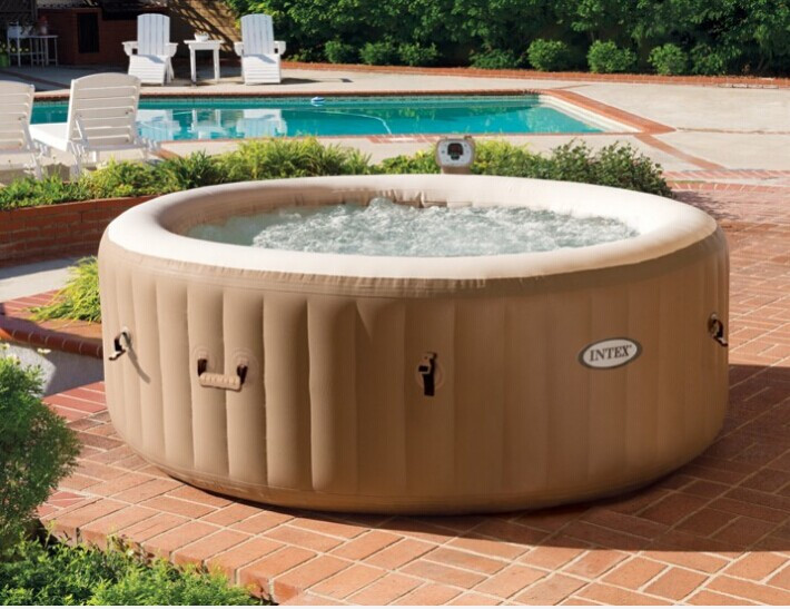 Precioso y c modo burbuja inflable piscina de hidromasaje for Burbuja piscina