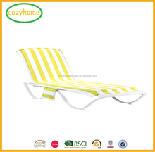 China supplier beach chair cover with pockets, Takedown portable beach chair towel cover lounger mate towels