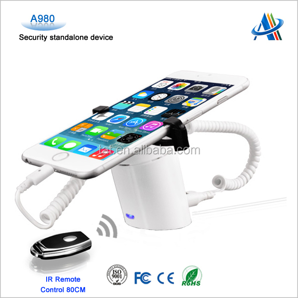 security solutions providers for mobile phone anti theft display holder smartphone security display stand A980 with Clamp