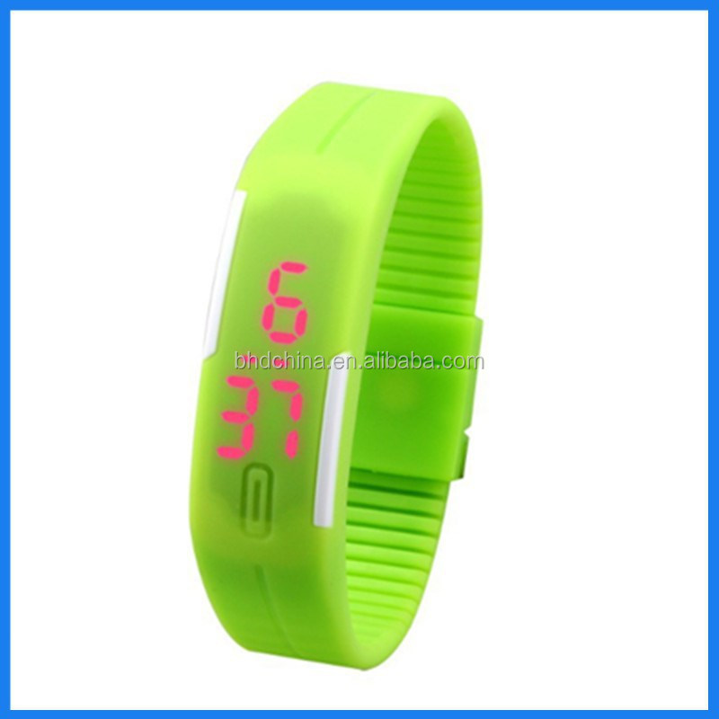 2015 waterproof silicone usb digital led bracelet watch for woman man cool watch