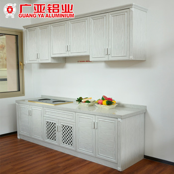 Custom Simple Design China Aluminum Gas Stove Kitchen Cabinet Wooden
