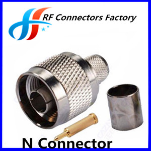 Low Loss RF Connector N Type Male Connector For l/2 Cable