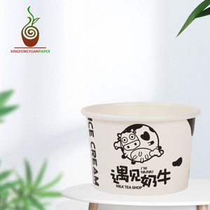 Customized takeaway soup paper bowl cup 32oz