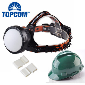 Minier Safety Helmet Used Headlamp / Wide Angle And Huge Beam Headlamp With Plastic Helmet Clip