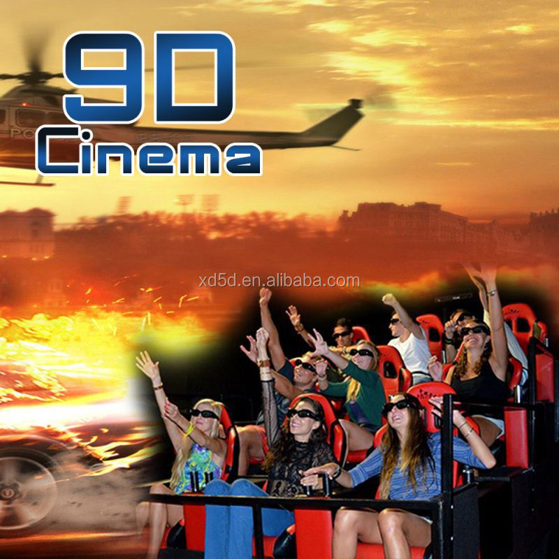 Interactive 9 seats Interactive gun shooting 7D 9D cinema manufacturer