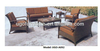 庭の藤の家庭用家具のソファ/パティオの屋外家具