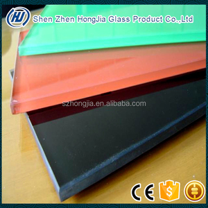 clear tempered silk screen printing glass wall