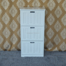 2018 modern furniture wood white kd shoe rack cabinet
