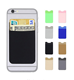 Adhesive Phone Wallet, Elastic Fabric Cell Phone Card Holder for All Smartphones & Cases
