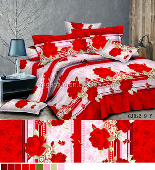 Lovely China Supplier Hot Designer 100% Brushed Polyester Fabric 3d Bed Sheets For  Wholesale India